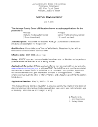 Resume For Assistant Principal Sample Letter Of Interest For Board Position Coinfetti Co