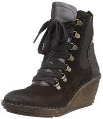 womens boots amazon uk fly suzu s boots black black black 5 uk amazon