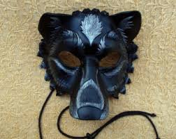 leather mardi gras masks made to order black silver lion leather mask masquerade cat