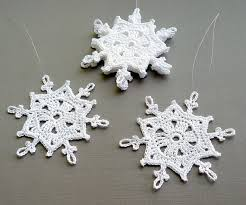 6 crochet snowflake ornaments large snowflake b83 in white