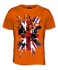 Great Britain Flag Union Jack Abstract Print Mens T Shirt Great Britain Flag Uk