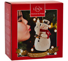lenox wireless porcelain blow out the candle holiday ornament