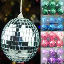 2017 silver mirror ball disco ball flash glass christmas ball 5cm