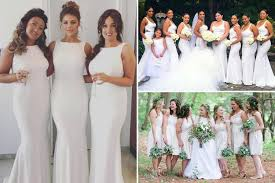 wedding dress lewis why white bridesmaid dresses are the next big wedding trend of 2017
