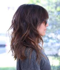 medium length wavy hairstyle 60 most beneficial haircuts for thick hair of any length