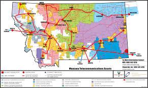 Map Montana by Broadband