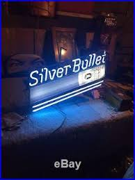 vintage coors light neon sign vintage 1970 silver bullet coors light neon sign vintage neon sign