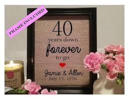 geschenke zum 40 hochzeitstag die besten 25 40 year anniversary gift ideen auf 40