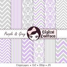 purple and gray digital paper pack lavender and grey nursery clip