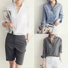 linen blouses cheap cotton linen shirt blouse autumn blouses