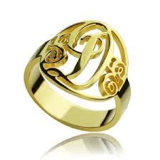 Monogram Ring Gold Cheap Monogram Ring
