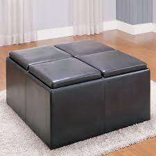 ottomans ottoman with tray on top shoe storage ottoman real