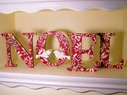 home decor with houston u2013 noel decorative letters scrapbook