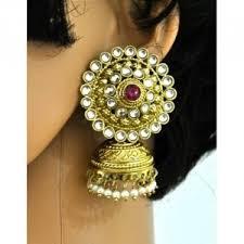 big jhumka gold earrings studs jhumkas big stud jhumkas online shopping india orne