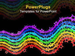 wooden letter templates powerpoint template educational wooden blocks with colorful powerplugs powerpoint template with neon colored rainbow made of waving lines with stars on them