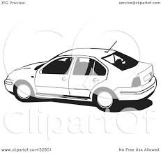 volkswagen clipart clipart illustration of a black and white volkswagen jetta car by