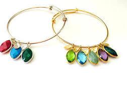 custom birthstone bracelets custom birthstone etsy