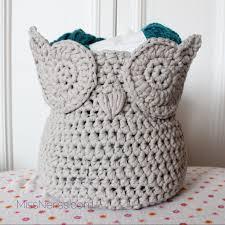 it u0027s a hoot storage basket free pdf crochet pattern owl