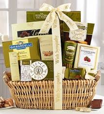 bereavement gift baskets sympathy gift ideas going beyond flowers