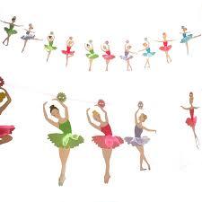 Ballerina Decorations Aliexpress Com Buy Party Garland Ballerina Flags Bunting
