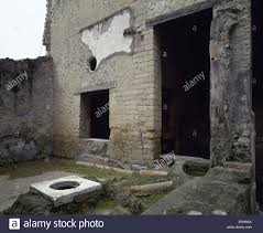 italy herculaneum house of the wooden partition wall stock photo
