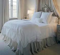 White Bed Skirt Queen Extra Long Gathered Bed Skirt Queen By Humblehomedesign On Etsy