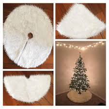 wholesale cilected tree skirt white fur carpet
