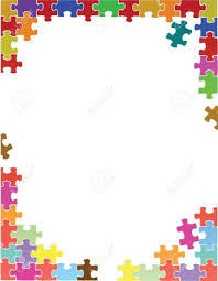 free puzzle piece template purple puzzle pieces border template illustration design over purple puzzle pieces border template illustration design over a white background stock vector 28099325