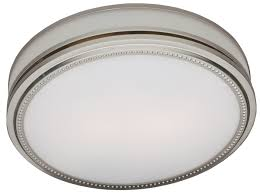 Bathroom Fan Light Bathroom Fan With Light And Nightlight Brushed Nickel Finish 83001