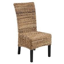 chaise tress e chaise exotique rotin tressée et bois