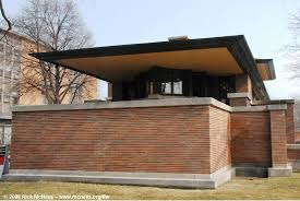 frank lloyd wright prairie architecture robie house in