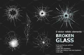How To Join Broken Glass by Broken Glass Set Illustrations Creative Market