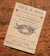 wedding invitations knot tying the knot vintage wedding invitation for seaside