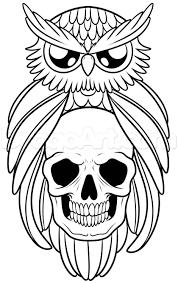 tribal owl tattoo 20 owl skull tattoos designs