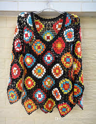 boho crochet 2017 handmade square sleeve boho crochet blouse hippie