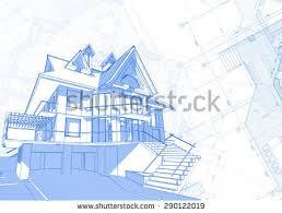 blueprint house plans rolls architecture blueprints house plans stock photo 272110673