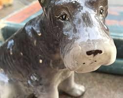 american pitbull terrier figurines schnauzer figurine etsy