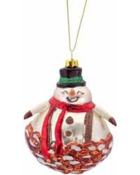 bargains 26 4 shiny glittered pine cone snowman glass