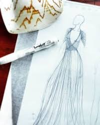 waterfall design ballgown fashion illustration inktober cup