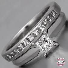 princess cut wedding set engagement rings princess cut diamond wedding set
