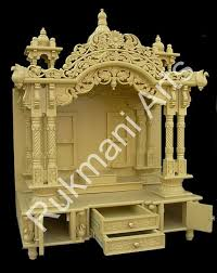 Marble Temple Home Decoration Wooden Carved Teakwood Temple Mandir Wooden Temple Puja Room