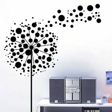 Bubbles Dandelion Flowers Wall Sticker Design Festival Wall - Flower designs for bedroom walls