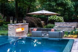 Modern Landscaping Ideas For Small Backyards by Modern Garden Design With Pool Inspirations Including Naroon