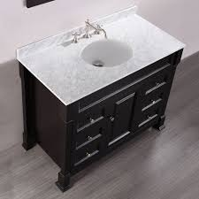 Vanity With Carrera Marble Top 43
