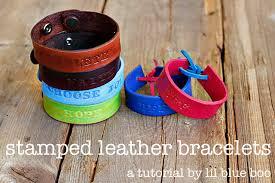 diy hand bracelet images Hand stamped leather bracelets a tutorial jpg