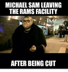 Michael Sam Meme - michael sam leaving the rams facility tm after being cut nfl