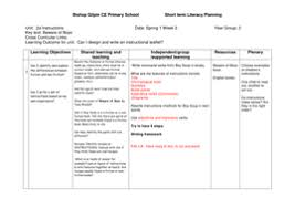 instructions ks2 writing planning and lessons by hannahdillon1
