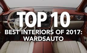 Best Car Interiors Top 10 Best Car Interiors Of 2017 Wardsauto Autoguide Com News