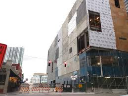 cladding installed at brickell city centre giving a glimpse of