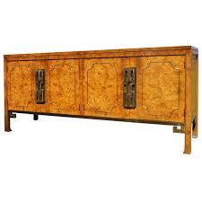 Sideboard Modern Brass Trimmed Amboyna Burl Credenza Or Sideboard By Mastercraft